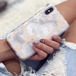 Accessories - NEW White Marble Rose Gold Chrome iPhone Case!